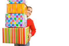 Carrying gifts Royalty Free Stock Photos