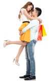 Carrying girlfriend Royalty Free Stock Image