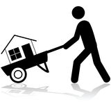 Carrying a house Stock Images