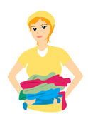 Carrying Laundry Stock Photos