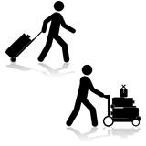 Carrying luggage Royalty Free Stock Photography