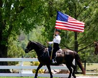 Carrying Old Glory stock photography