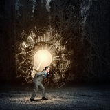 Carrying out an idea Royalty Free Stock Photos