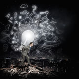 Carrying out an idea Royalty Free Stock Photo