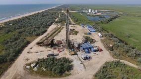 Carrying out repair of an oil well Royalty Free Stock Photo