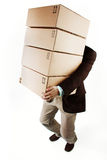 Carrying packages Royalty Free Stock Image