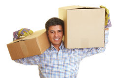 Carrying pakets Stock Photography