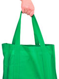 Carrying Reusable Green Bag Stock Photos