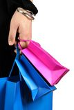 Carrying shopping bags Royalty Free Stock Image