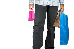 Carrying shopping bags Stock Image