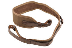 Carrying strap for hunting rifle, isolated. Background royalty free stock images