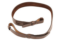 Carrying strap for hunting rifle, isolated.  royalty free stock photo
