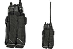 Carrying weapons case: military tactical cartridge belt for pouch made from high-tech fabric with quick connection system, close. Up, isolated royalty free stock image
