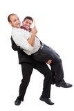 Carrying your colleague Stock Image