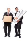 Carryng as caixas Foto de Stock