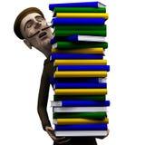 Carryng de professeur par paquet de livres Photo libre de droits