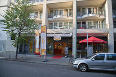Carrywurst博物馆在柏林 免版税库存照片