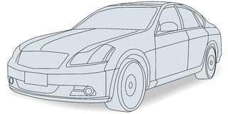 Cars. Vectorised various means of transportation stock illustration