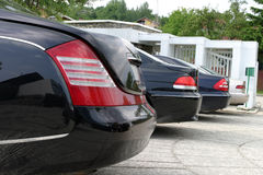 Cars. Row in front of a  shop Stock Photography
