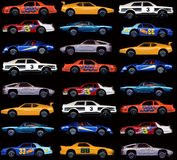 Cars. Variety of cars on a black background Stock Photo