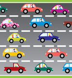 Cars. Illustration of cars on the road Stock Photo