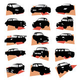 Cars. Vector set of cars silhouettes Stock Images