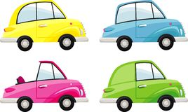 Cars. Retro cars of different models royalty free illustration