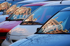 Cars. A collection of cars in a row Royalty Free Stock Images