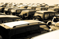Cars. In a parking lot Stock Photo