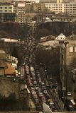 Cars. The middle of a working day in Bucharest Stock Images