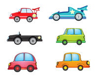 Cars. Illustration of various cars on a white background Stock Photos