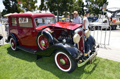 Cars. 1935 Standard-Coventry Coupe. Six cylinder side vale 2.664cc was part of the displays at the Geelong Quarter Mile Sprints. Wile the racing was going on Royalty Free Stock Photo