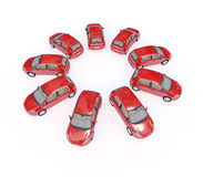 Cars 3d Stock Photography