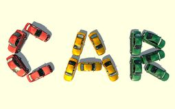 Cars. Scene of the cars type with top Royalty Free Stock Images