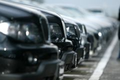 Cars. Mant many cars all in line Royalty Free Stock Images