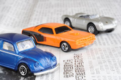 Cars. Car business for new Chine and news Royalty Free Stock Image