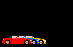 Cars. Illustrations of sports cars royalty free illustration
