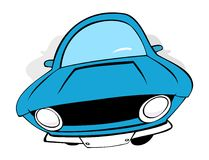 Cars. 3 original standing cartoon cars Royalty Free Stock Photos