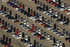 Cars from above Stock Photography