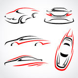 Cars abstract set. Vector Royalty Free Stock Photography