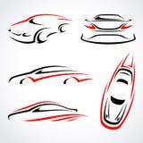 Cars abstract set. Vector. Illustration royalty free illustration