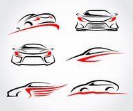 Cars abstract set. Vector Stock Image