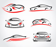 Cars abstract set. Vector Royalty Free Stock Image