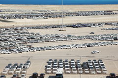 Cars in Abu Dhabi Port Royalty Free Stock Photography