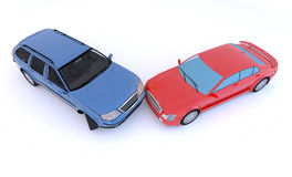 Cars in an accident Royalty Free Stock Photos