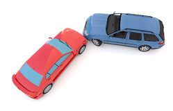 Cars in an accident Royalty Free Stock Images