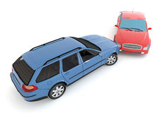 Cars in an accident Royalty Free Stock Image