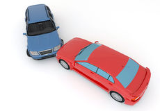 Cars in an accident Stock Photography