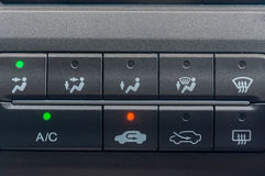 Cars air conditioner option. Button and icon for air conditioner option for modern car Royalty Free Stock Images