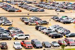 Cars in the airport parking lot at DIA Stock Photography